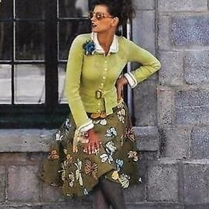 Anthro Rare Fei Corduroy Butterfly A Line Skirt
